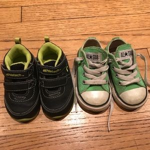 6/$20 two pairs baby boys sneakers